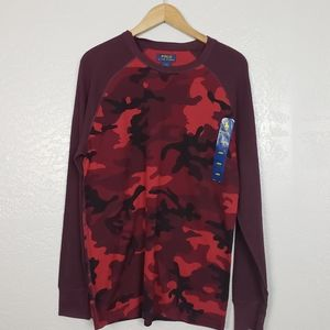 Polo Ralph Lauren Camo Thermal Top Large NWT